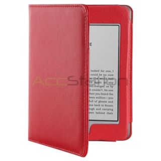 Accessory Bundles for  Kindle Touch Red Leather Case Charger