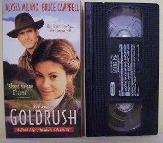 Real Life Alaskan Adventure VHS Alyssa Milano Bruce Campbell