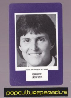 Bruce Jenner Track Field RARE Board Game Photo Card