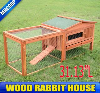 Wooden Rabbits Chicken House Coop Bunny Hen Hutch Box Small Animal