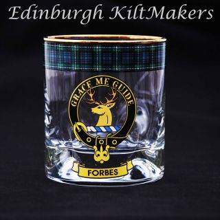 Armstrong Clan Crested Whisky Glass Tartan Whisky Glasses Crystal