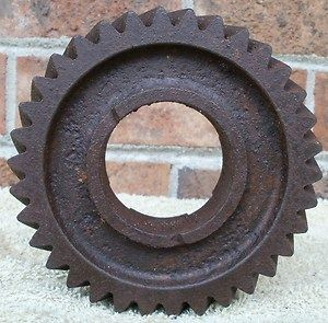 Vintage Cast Iron Industrial Art Rusty Gear Machine Age Steampunk