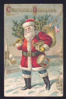 Postcard Santa Claus Red Robe Burfordville Missouri MO