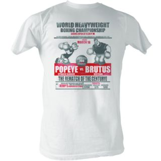 Popeye vs. Brutus Boxing Championship T Shirt New
