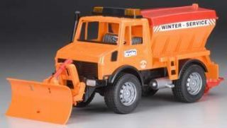 Bruder Toys America 1 16 Snow Plow Truck Orange Red BTA02572
