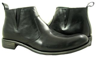 New Steve Madden Mens Bryton Black Leather Shoes US 11