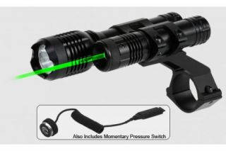 BSA Optics 532 Green Laser & 140 Lumen Light w/ 1inch Scope Mount