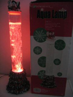RARE 22 Xmas Water AQUA Bubble Table Standing LAMP Tube Color CHANGING