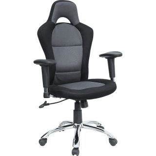Race Car Inspired Bucket Seat Office Chair w Grey Black