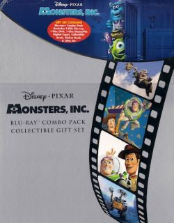 Disney Monsters Inc Blu Ray DVD Collectible Gift Set