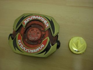 Zyuranger Dragon Buckler BOJ Green Power Rangers Morpher + Coin MMPR