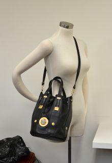 Vtg Gianni VERSACE Black Leather Bucket Bag   Gaga Medusa   Crossbody