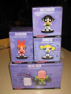 Powerpuff Girls Buttercup Bubbles Blossom and Mojo Jojo Maquettes