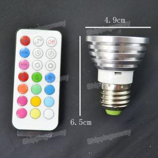 E27 5W RGB Energy saving Color change High Power LED Bubl