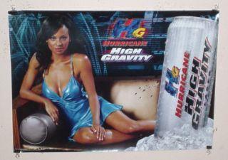 Bud Budweiser Hurricane Beer Sexy Black Girl Poster
