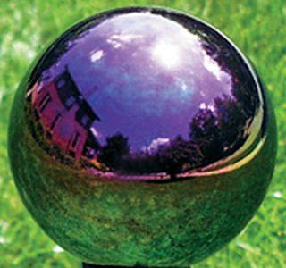 10 ARCO IRIS HAND BLOWN GLASS GARDEN GAZING GLOBE BALL RSR8106