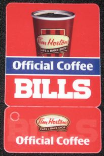 Tim Hortons Coffee Buffalo Bills 2012 NFL Football Pocket Schedule