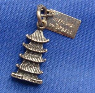 Silver Pagoda Charm w Japanese Village Buena Park California