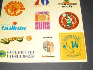 Logos Vinyl Transfer Buffalo Braves Cincinnati Royals 17 Teams