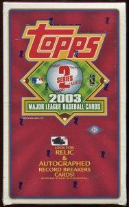 2003 MLB Topps Series 2 Baseball Hobby Box Factory SEALED Relics Autos