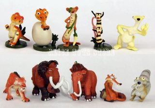 Ice Age figures character American Cartoon Toys 10pc set NEW AU