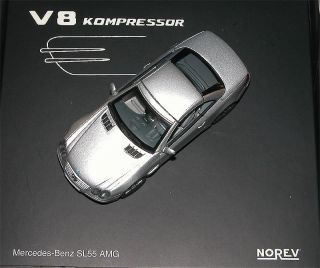 F070 Norev 351130 Mercedes Benz SL 55 AMG R230 V8 Kompressor 1 43 RAR