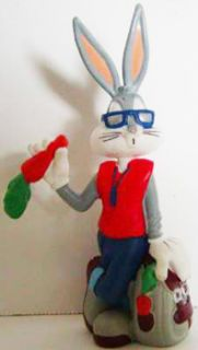 Bugs Bunny in Sunglasses Figurine Looney Tunes 3 1 2 inch Plastic Mini