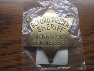Sheriff Badge Buford Pusser Sheriff Mcnairy Co Tennessee Unopened