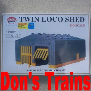 loco shed new unassembled model power ho scale kit in original shrink