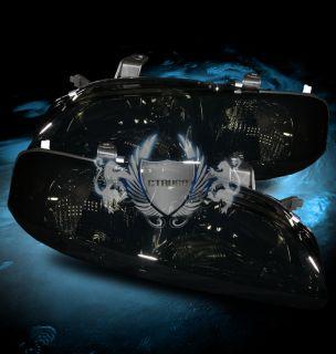 00 03 Nissan Sentra 4DR Sedan Smoke Tint Crystal Headlights Lamps