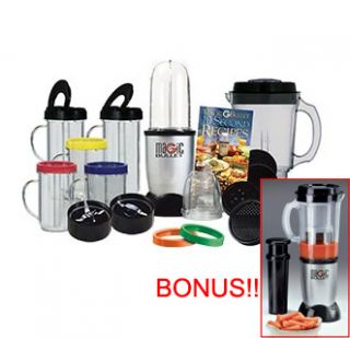 THE ORIGINAL MAGIC BULLET FOOD PROCESSOR BLENDER with BONUS JUICER