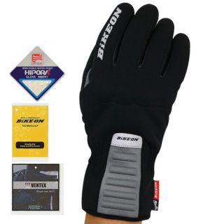 Bike on Warm Winter Gloves Cycling Bicycle GB 105 Black