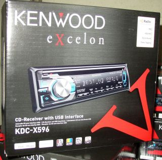 Kenwood Excelon Built in HD Radio Tuner KDC X596 Car CD Player KDCX596