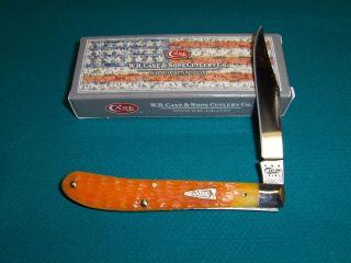 Case XX Orange Peel Jigged Bone Utility 61048SS Knife CA 12839