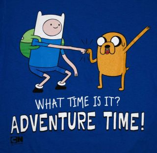 Adventure Time Fist Bump Finn and Jake Cartoon T Shirt Tee