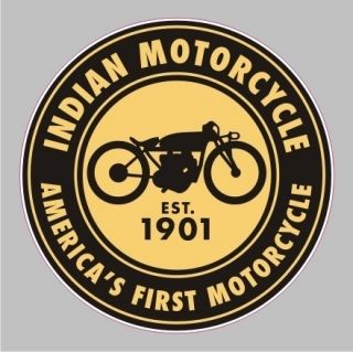 Indian Motorcycle Round Vintage Bumper Sticker Vinyl Decal