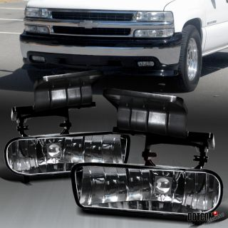 Silverado Suburban Tahoe Clear Bumper Fog Lights Kit