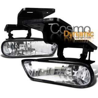 1999 2002 Chevy Silverado Clear Bumper Lights Driving Fog Lamps