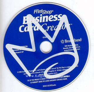 Printshop Business Card Creator PC Print Shop CDROM New