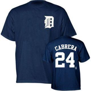 Detroit Tigers Miguel Cabrera Navy Jersey T Shirt sz XXL 2XL
