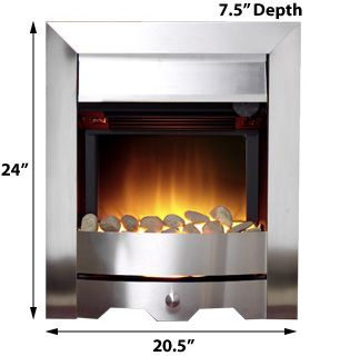 547UR Burley Rushden Freestanding Electric Fireplace Insert 95053