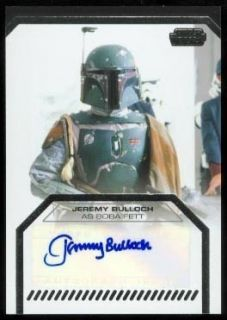 Star Wars Galactic Files Autograph Jeremy Bulloch as Boba Fett