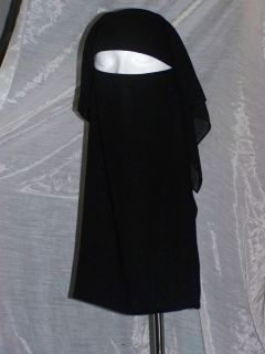 Traditional Saudi Triple Layered Burqa Without String