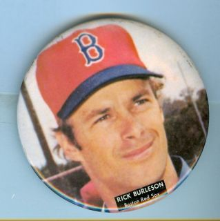 1975 Rick Burleson Boston Red Sox Pin Pinback Button