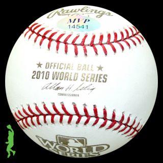 Pat Burrell Signed Auto 2010 World Series WS Baseball Ball Giants COA