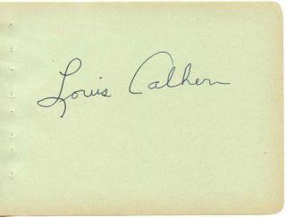 Louis Calhern Vintage 1930s Original Signed Album Page Autographed