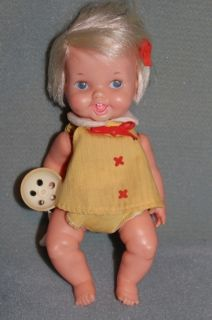 Ideal Belly Button Baby Doll Vintage 1970 in Original Outfit