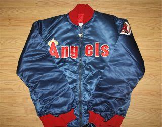 Vintage California Angels Starter Jacket MLB Baseball Anaheim Salmon