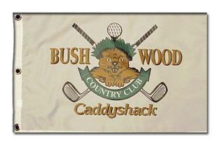 Caddyshack Bushwood Country Club Gopher logo golf 14x20 inch pin flag
