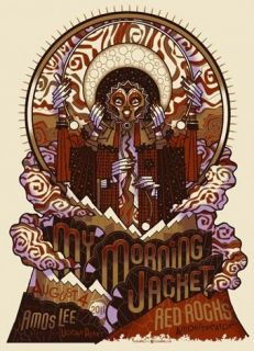 My Morning Jacket Red Rocks 2011 Concert Poster Burwell